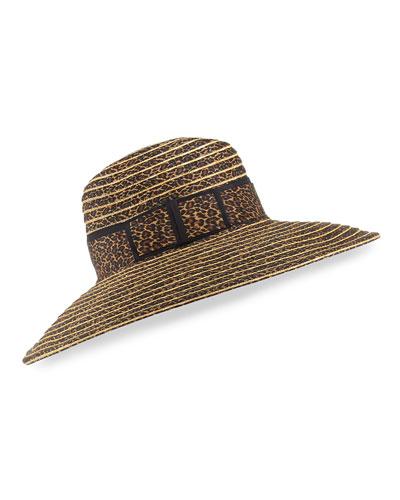 41b32520eea Macassar Gangster Leopard-Print Sun Hat