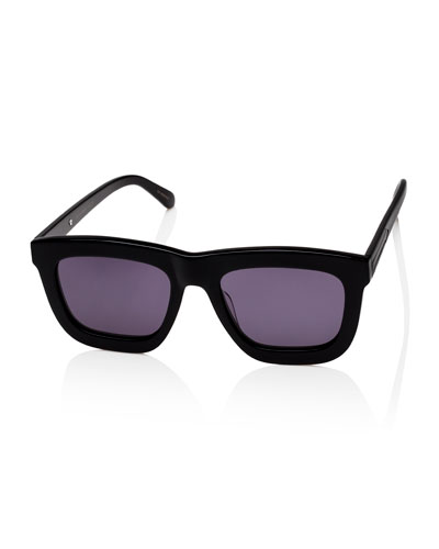 Deep Worship Square Monochromatic Sunglasses, Black