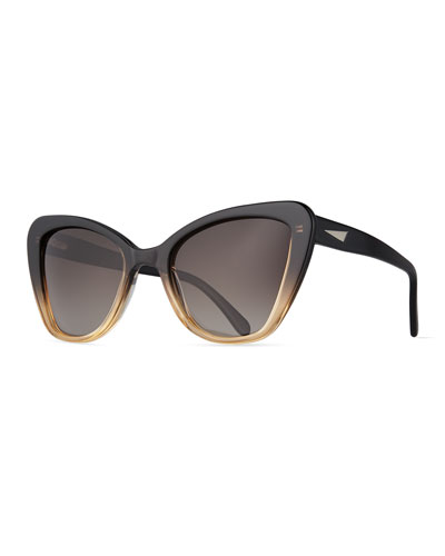 Venice Cat-Eye Sunglasses, Black