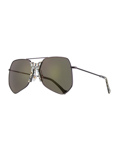 Goste Geometric Sunglasses, Black