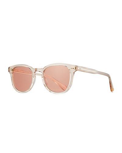 McKinley Square Transparent Sunglasses, Nude
