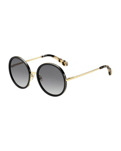 lamonica round sunglasses, black