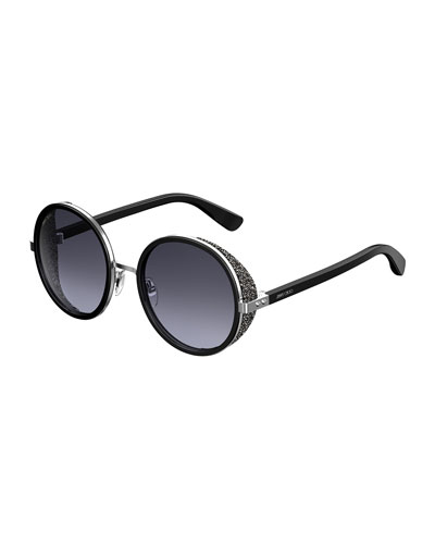 Andien Textured Round Sunglasses
