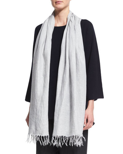 Handkerchief Linen Shawl, Gray