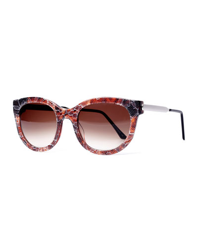 Lively LQ Cat-Eye Lace Sunglasses, Brown