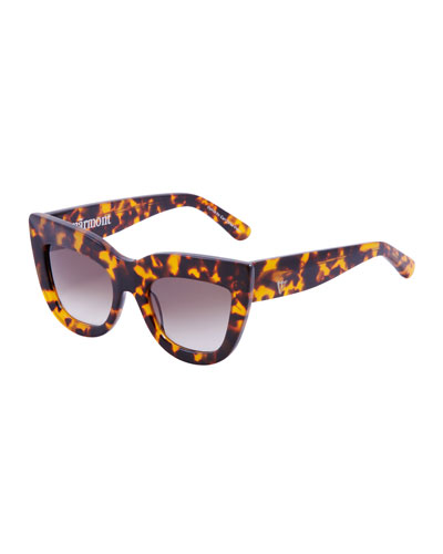Marmont Cat-Eye Sunglasses, Brown Tortoise