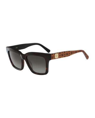 Square Two-Tone Visetos Sunglasses