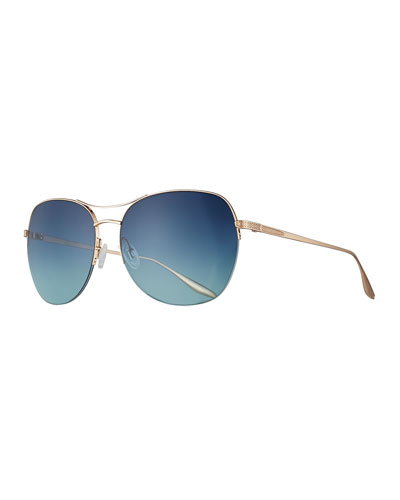 Quimby Titanium Butterfly Sunglasses, Gold