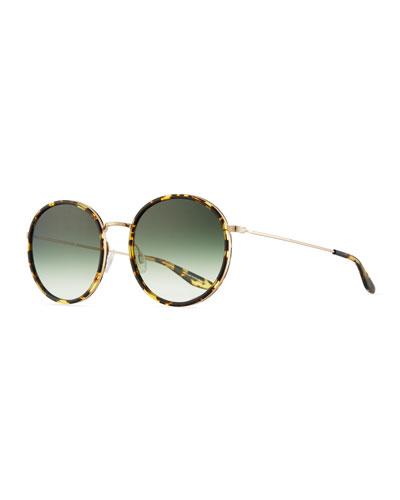 Joplin Round Metal-Rim Sunglasses