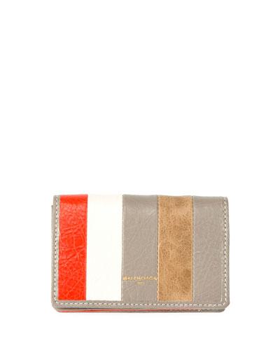 Bazar Striped Card Case