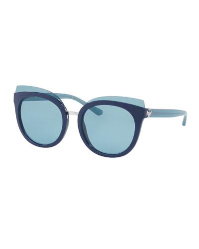 Panama Monochromatic Cat-Eye Sunglasses