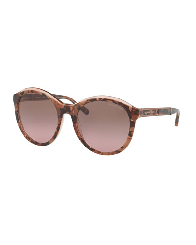 Geo-Glam Rounded Plastic Sunglasses