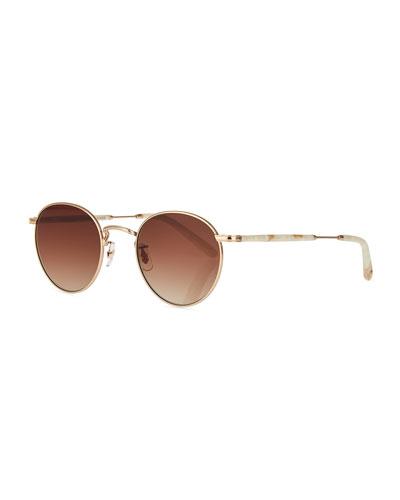 Wilson Round Gradient Sunglasses, Desert Taupe