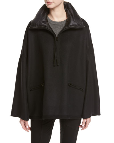 Maho Poncho Jacket, Black