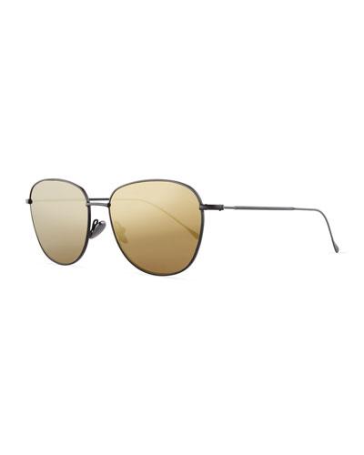 Matte Metal New York Sunglasses