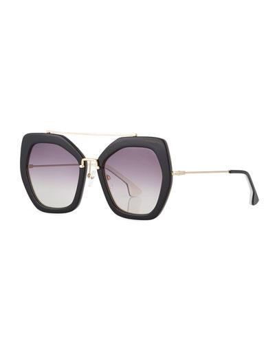 Bowery Square Sunglasses, Black