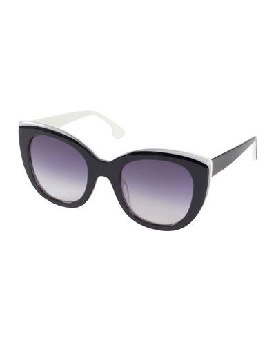 Mercer Two-Tone Cat-Eye Sunglasses