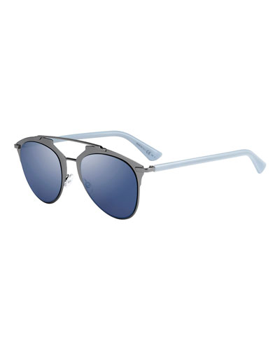 Mirrored Metal Sunglasses