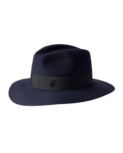 Boyfriend Henrietta Felt Hat, Navy