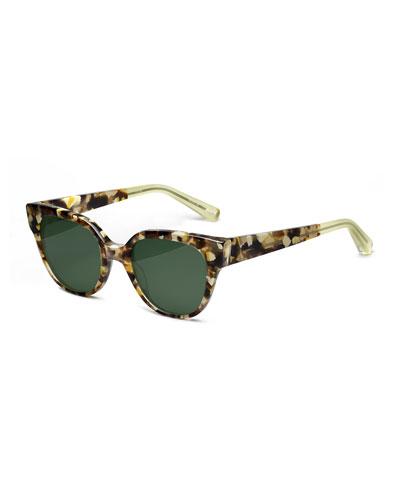 Avory Monochromatic Square Sunglasses