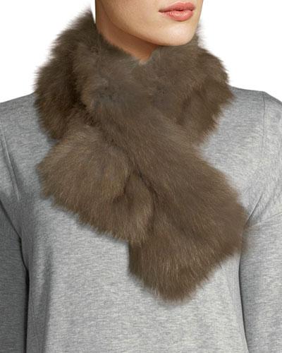 Fur Pull-Through Scarf