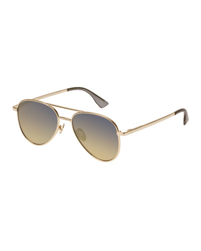 Empire Gradient Aviator Sunglasses