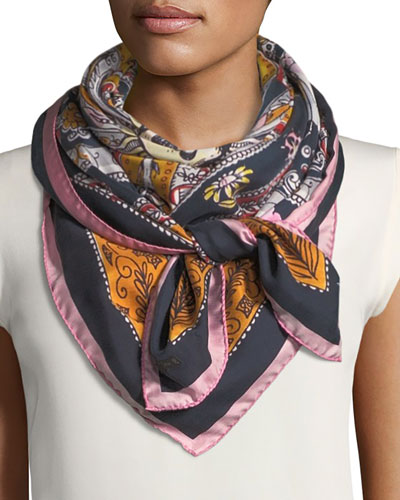 Mike Silk Foulard Scarf