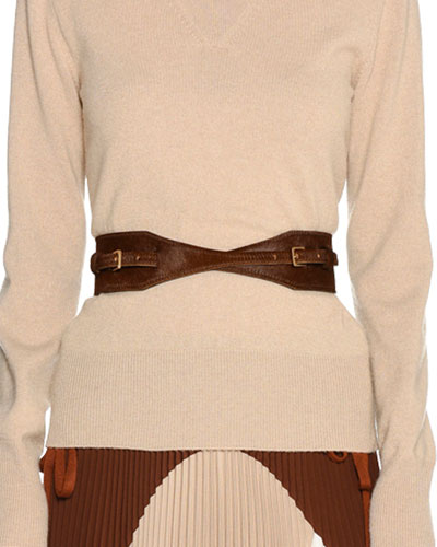 Calf Hair Fur Contour Belt