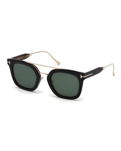 Alex Square Acetate & Metal Sunglasses