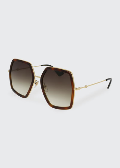 1139751bea82 Oversized Square Web Sunglasses Quick Look. Gucci
