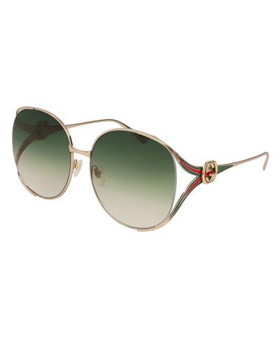 Oval Web GG Sunglasses