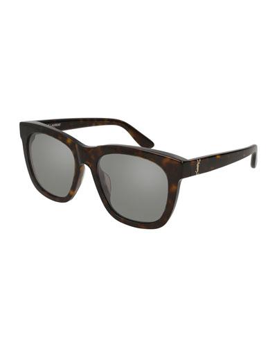 Square Acetate Sunglasses, Brown
