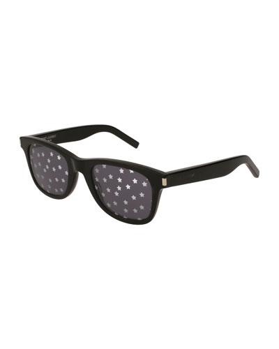 SL 51 Unisex Rectangle Star Sunglasses