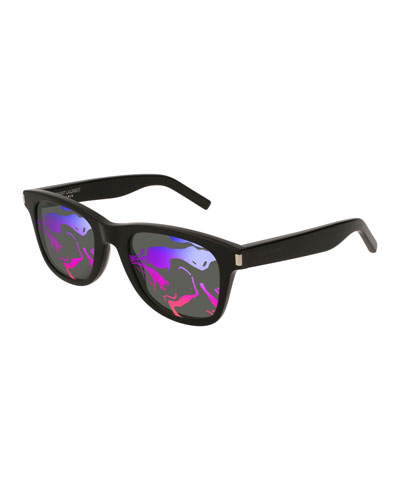 SL 51 Rectangle Abstract-Lenses Sunglasses