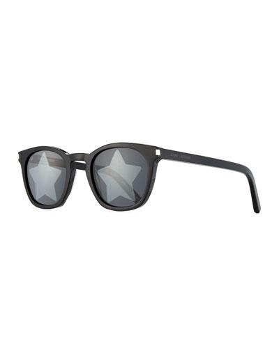 Square Acetate Star-Lens Sunglasses