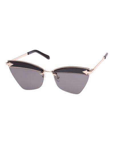 Sadie Cat-Eye Geo Sunglasses