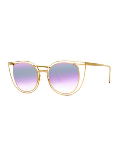 Eventually Metal Cat-Eye Sunglasses