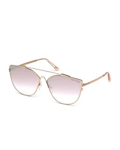 Jacquelyn Metal Aviator Sunglasses