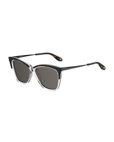 Square Metal & Acetate Sunglasses
