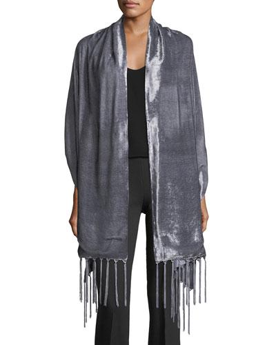 Silk Velvet Wrap w/ Tassel Ends