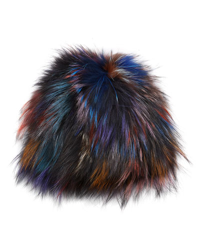 Fox Fur Knit Hat