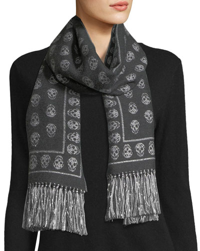 Upside Down Skull Scarf