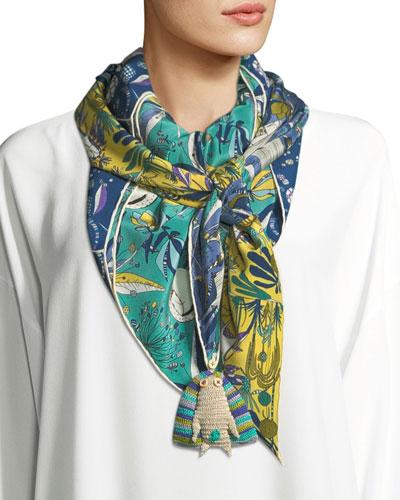 Madremonte Silk Printed Scarf