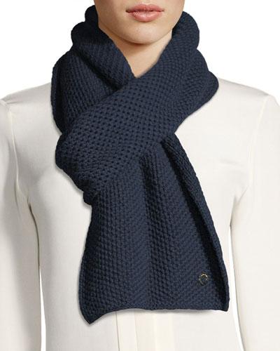 Cashmere Rougemont Knit Scarf