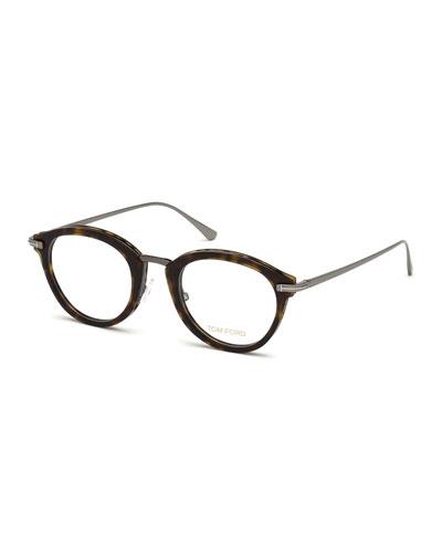 83531f0580 Oval Acetate   Metal Optical Frames