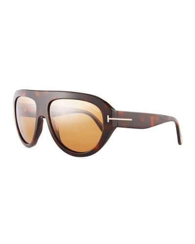 Felix Acetate Shield Sunglasses