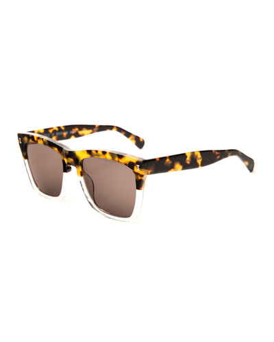 Two-Tone Square Sunglasses