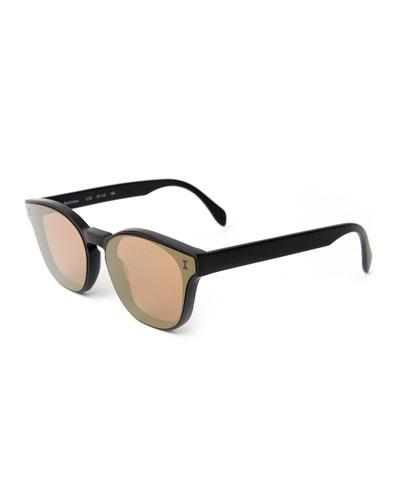 Rectangle Lenses-Over-Frame Sunglasses