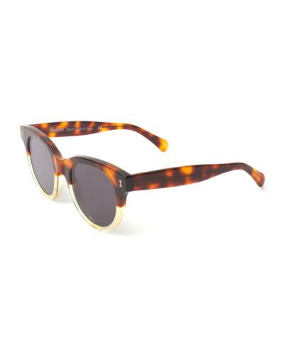 Two-Tone Rectangle Sunglasses