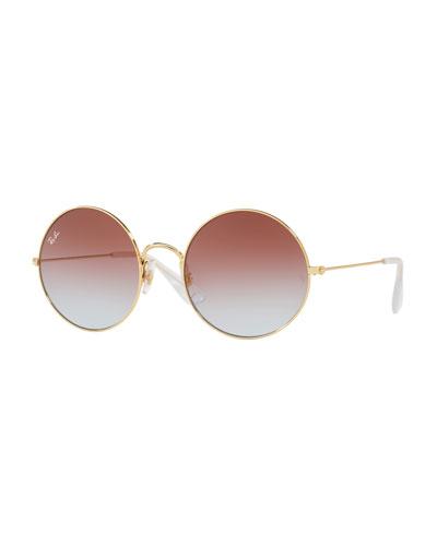 4cec385a393 Black Metal Gradient Sunglasses